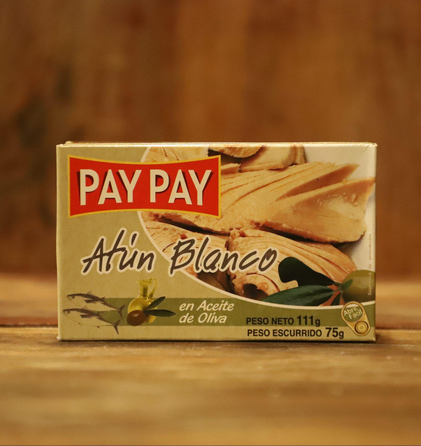 ATÚN BLANCO EN ACEITE DE OLIVA PAY PAY 111g