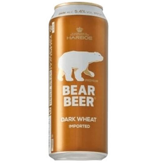 BEAR BEER DARK WHEAT LATA 500cc