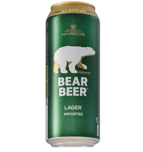 BEAR BEER LAGER LATA 500cc