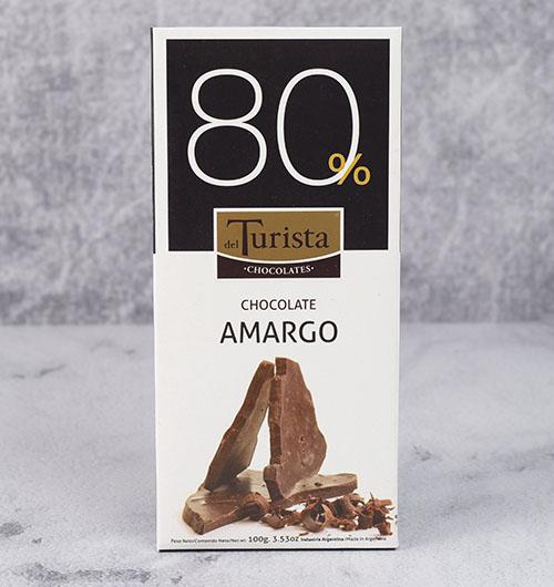 CHOCOLATE DEL TURISTA TABLETA AMARGO 80% 100g
